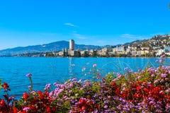 Mening over Montreux royalty-vrije stock afbeeldingen
