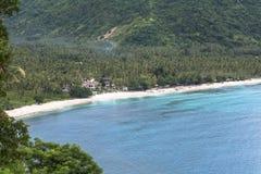 Mening over mooi strand, Lombok royalty-vrije stock afbeelding