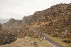 Mening over mooie canion van de rand van een weg Royalty-vrije Stock Foto