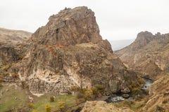 Mening over mooie canion van de rand van een weg Stock Foto