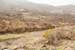 Mening over mooie canion van de rand van een weg Royalty-vrije Stock Afbeeldingen