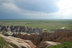 Mening over Nationaal Park Badlands Royalty-vrije Stock Foto