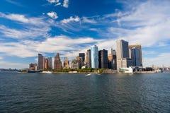 Mening over New York van Rivier Hudson royalty-vrije stock foto
