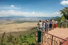 Mening over Ngorongoro-Behoudsgebied Stock Afbeelding