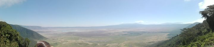 Mening over Ngorongoro-krater Royalty-vrije Stock Fotografie