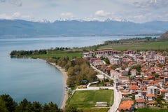 Mening over Ohrid, Macedonië Royalty-vrije Stock Foto's