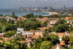 Mening over Olinda en Recife Stock Afbeeldingen