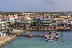 Mening over Oranjestad Stock Afbeeldingen