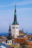 Mening over oud Tallinn Stock Afbeelding
