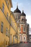Mening over Oude stad van Tallinn Royalty-vrije Stock Afbeeldingen