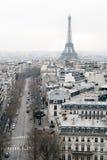 Mening over Parijs, Les Champs Elysees Royalty-vrije Stock Afbeeldingen