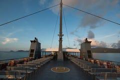 mening over passagiersveerboot Stock Foto's