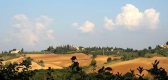 Mening over Passignano, Toscanië Stock Afbeelding