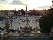 Mening over Piazza del Popolo Rome royalty-vrije stock foto's
