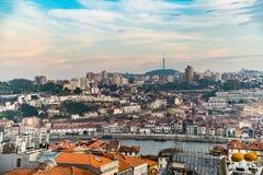 Mening over Porto en rivier Douro royalty-vrije stock foto's