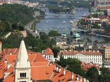 Mening over Praag Stock Foto's