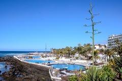 Mening over Puerto de la Cruz royalty-vrije stock foto's