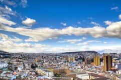 Mening over Quito Stock Afbeelding