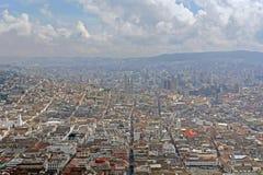 Mening over quito stad. Ecuador royalty-vrije stock foto