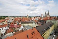 Mening over Regensburg Stock Afbeelding