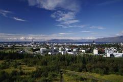 Mening over Reykjavik, IJsland Stock Foto's