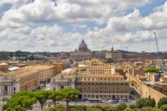 Mening over Rome, Italië Royalty-vrije Stock Afbeeldingen