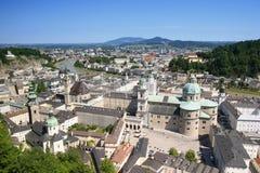 Mening over Salzburg, Oostenrijk Stock Afbeeldingen