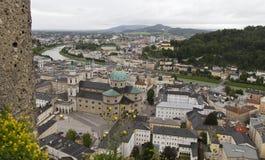 Mening over Salzburg in Oostenrijk Royalty-vrije Stock Foto