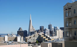 Mening over San Francisco stock foto