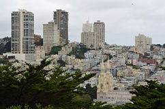 Mening over San Francisco van Coit-Toren Stock Foto