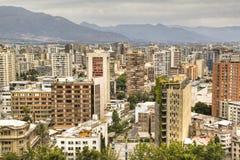 Mening over Santiago, Chili Royalty-vrije Stock Afbeeldingen