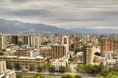 Mening over Santiago, Chili Stock Fotografie