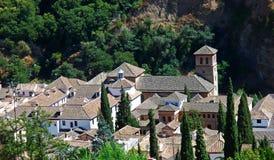 Mening over schilderachtige $ce-andalusisch stad, Granada Royalty-vrije Stock Fotografie