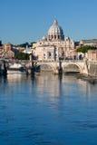 Mening over St Peter Basilica Stock Foto