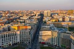 Mening over stad van Berlijn van Potsdamer Platz royalty-vrije stock afbeelding