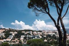 Mening over stad van Dubrovnik royalty-vrije stock foto