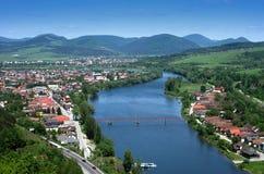 Mening over stad Zilina, Slowakije Royalty-vrije Stock Fotografie