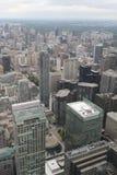 Mening over Toronto van de CN Toren Royalty-vrije Stock Afbeeldingen
