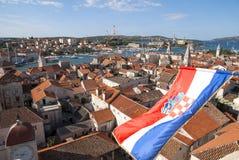 Mening over Trogir stock foto's