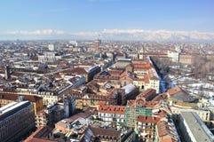 Mening over Turijn, Italië stock foto's