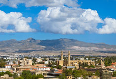 Mening over Turks zij Noordelijk Nicosia Royalty-vrije Stock Afbeelding