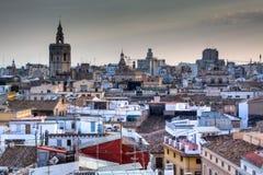 Mening over Valencia, Spanje Stock Afbeeldingen