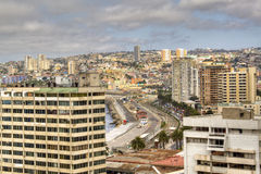 Mening over Valparaiso, Chili royalty-vrije stock foto