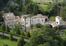 Mening over Villa Stock Fotografie