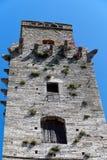Mening over wat van beroemde toren in San Gimignano in Toscany in Italië Stock Afbeeldingen