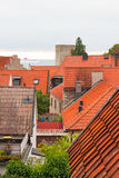 Mening over Zweedse stad Visby Stock Afbeelding