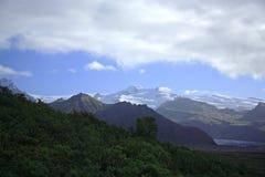 Mening overdwars aan de gletsjers Stock Fotografie