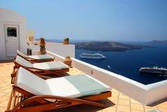 Mening in Santorini royalty-vrije stock afbeeldingen