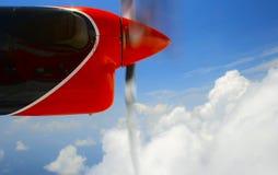 Mening uit het stier-oog van het watervliegtuig Royalty-vrije Stock Foto
