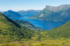 Mening van Ørsta, Noorwegen Royalty-vrije Stock Afbeelding
